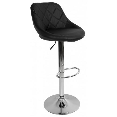 Барний стілець зі спинкою Bonro B-074 чорний
