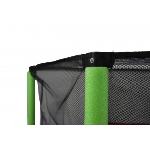 Батут Atleto 140 см з сіткою зелений New