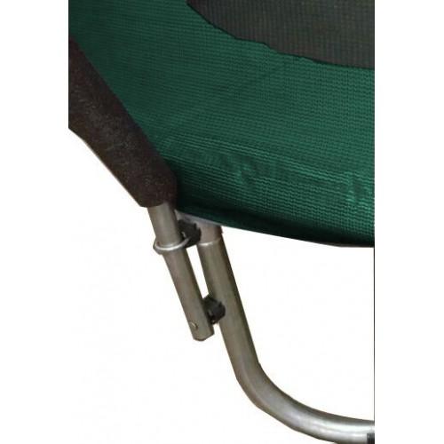 Батут Atleto 183 см з внутрішньою сіткою зелений