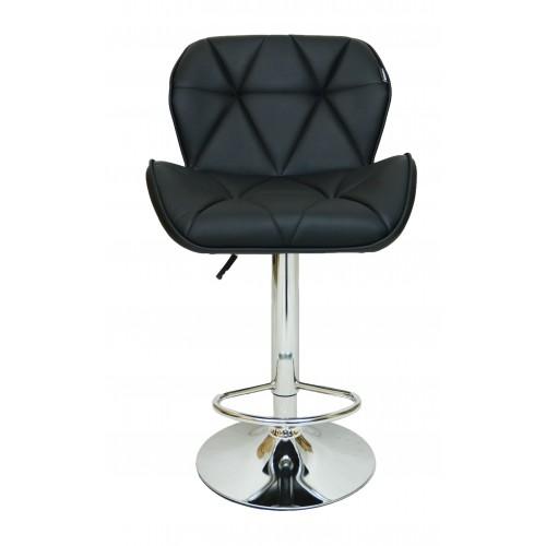 Барний стілець зі спинкою Bonro B-868M чорний