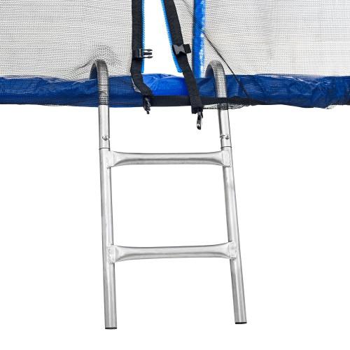 Батут Atleto 252 см з подвійними ногами з сіткою синій
