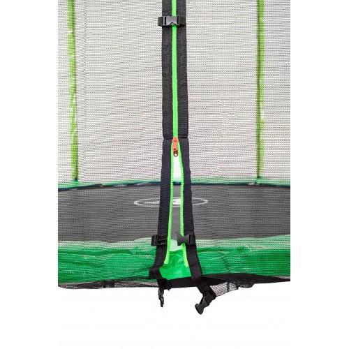 Батут Atleto 183 см з подвійними ногами з сіткою + драбинка зелений