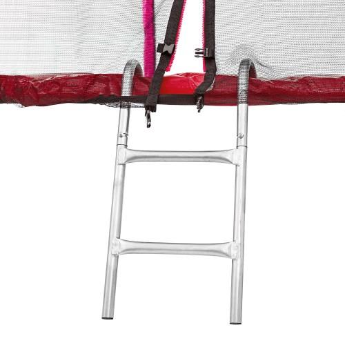 Батут Atleto 183 см з подвійними ногами з сіткою + драбинка червоний