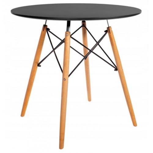 Стіл обідній круглий Bonro В-957-600 Чорний