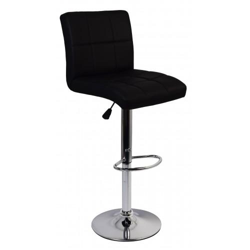 Барний стілець зі спинкою Bonro BC-0106 чорний