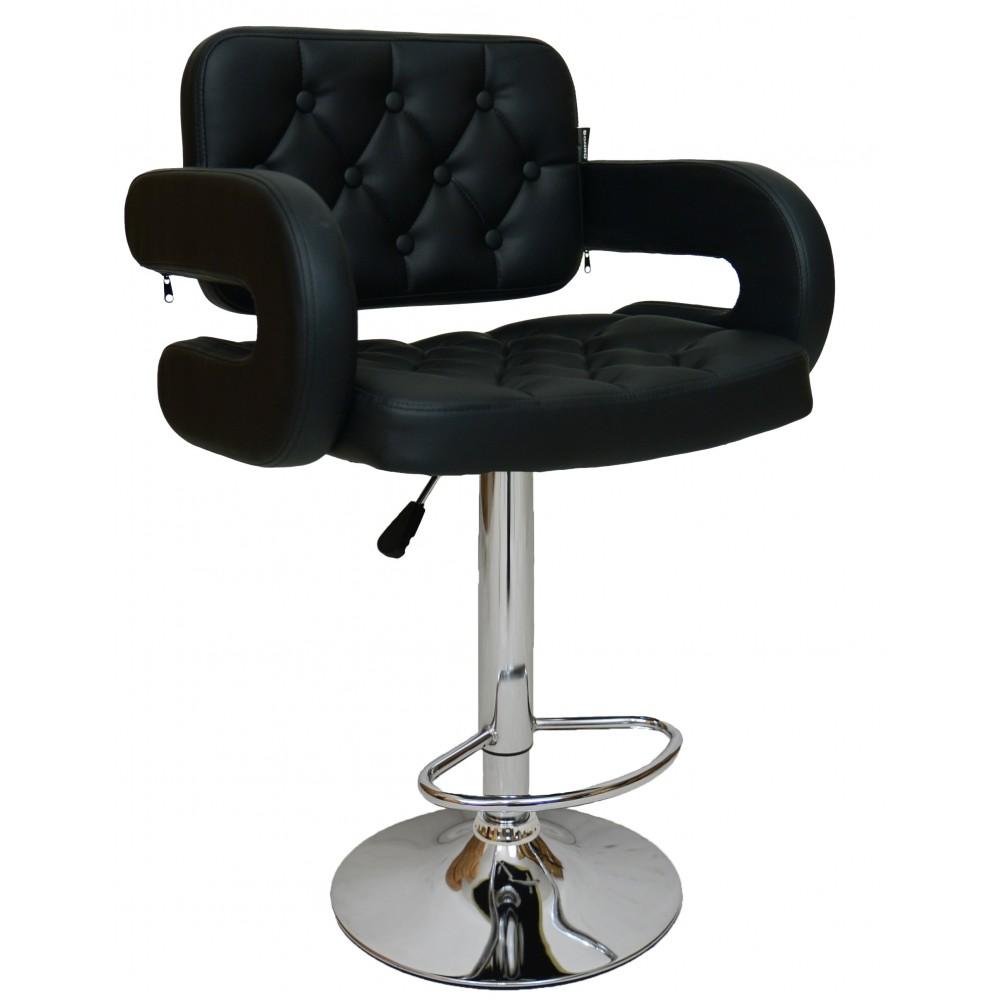 Барний стілець зі спинкою Bonro B-823A чорний