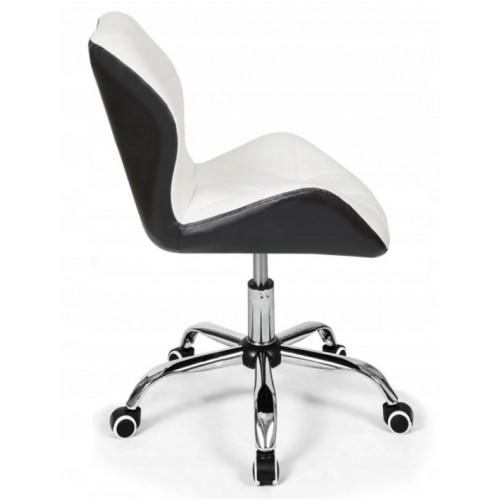 Крісло Bonro B- 531 біле+чорне