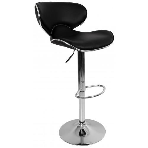 Барний стілець зі спинкою Bonro B-068 чорний