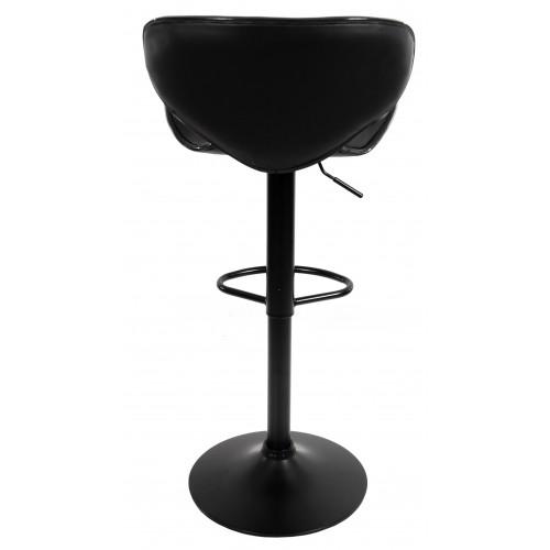 Барний стілець зі спинкою Bonro B-068 чорний (чорна основа)