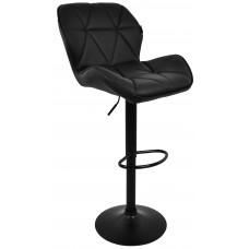 Барний стілець зі спинкою Bonro B-087 чорний (чорна основа)