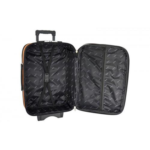 Текстильна валіза Bonro Style (середня) чорно-т. синя
