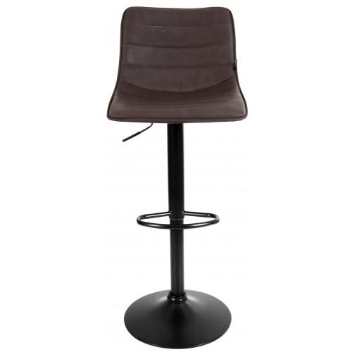 Барний стілець зі спинкою Bonro B-081 коричневий