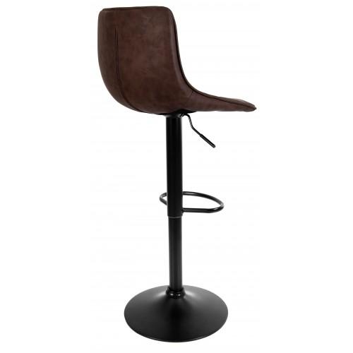 Барний стілець зі спинкою Bonro B-081 темний шоколад