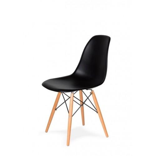 Стіл обідній Bonro В-950-1200 + 4 чорних крісла В-173