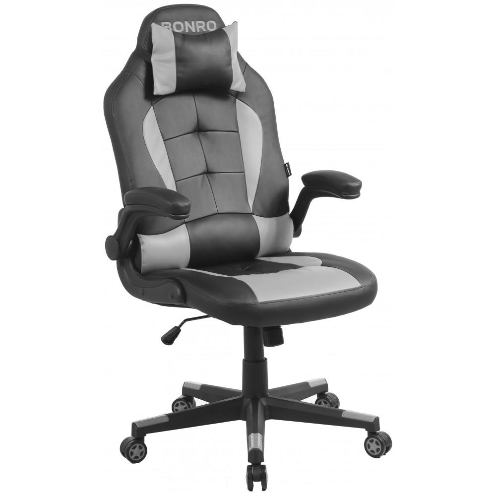 Крісло геймерське Bonro B-office 1 сіре