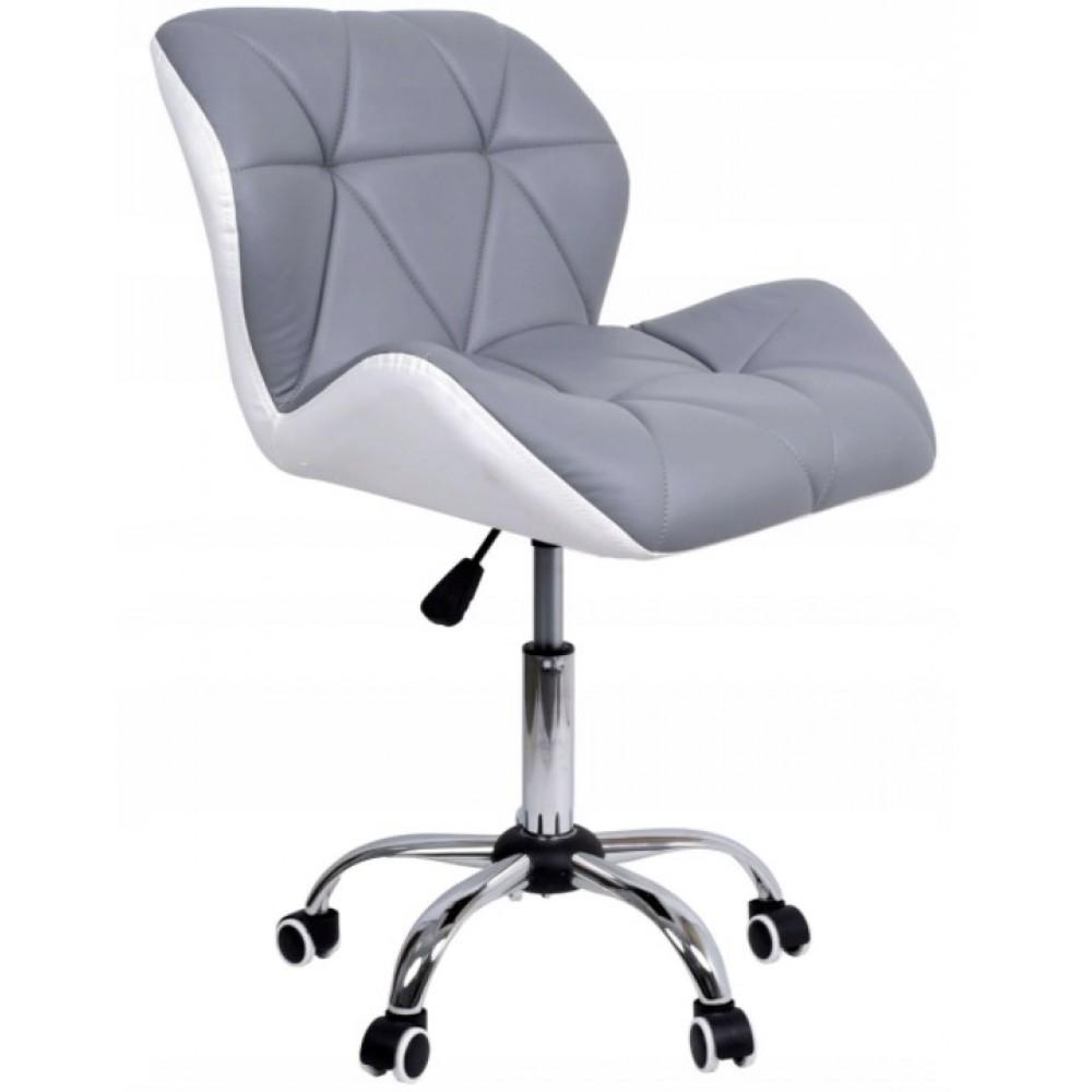 Крісло Bonro B- 531 сіре+біле