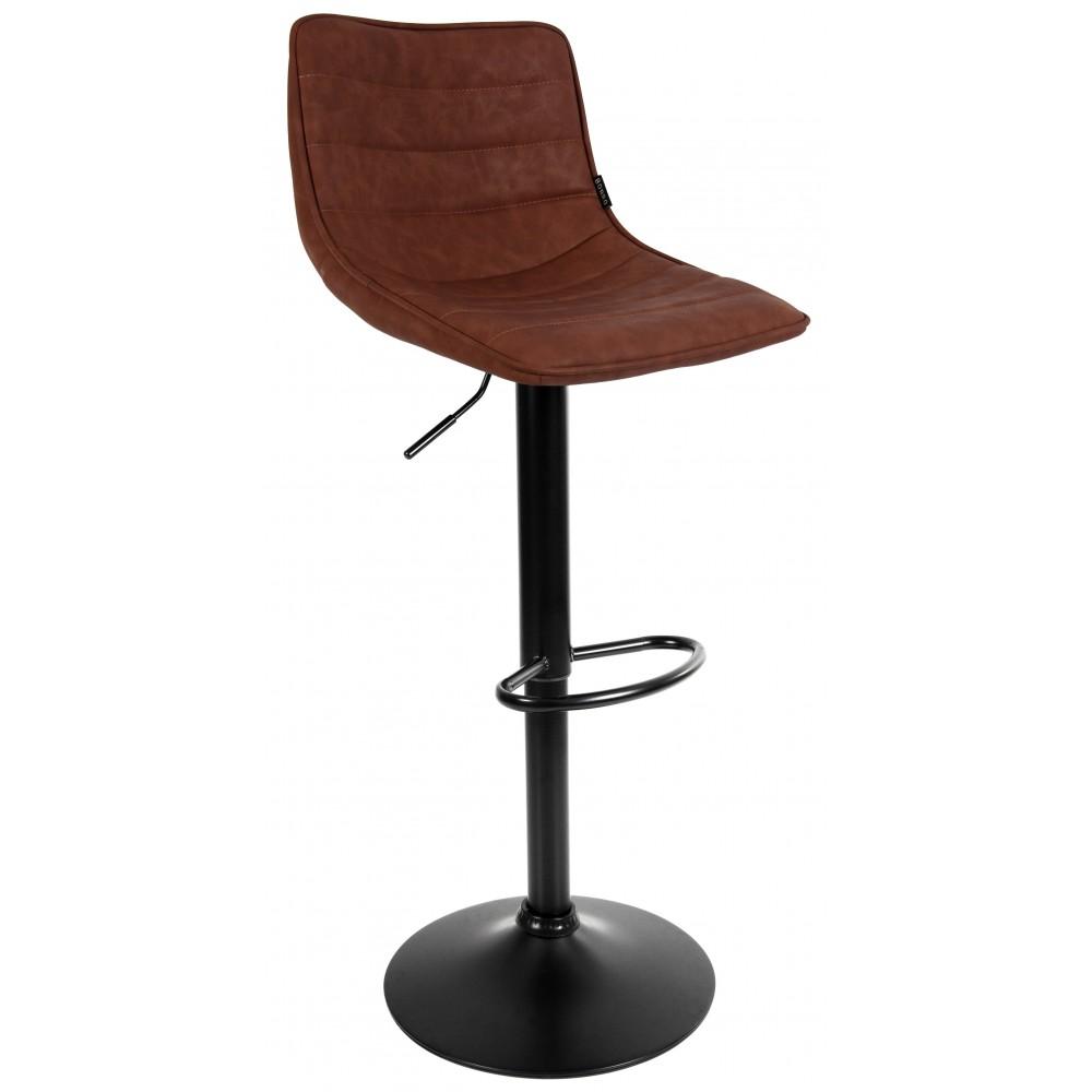 Барний стілець зі спинкою Bonro B-081 світло-коричневий