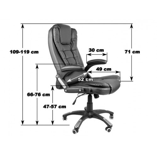 Кресло Bonro O-8025 бордове