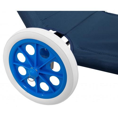 Шезлонг на колесах з дашком Bonro SP-152-4 синий