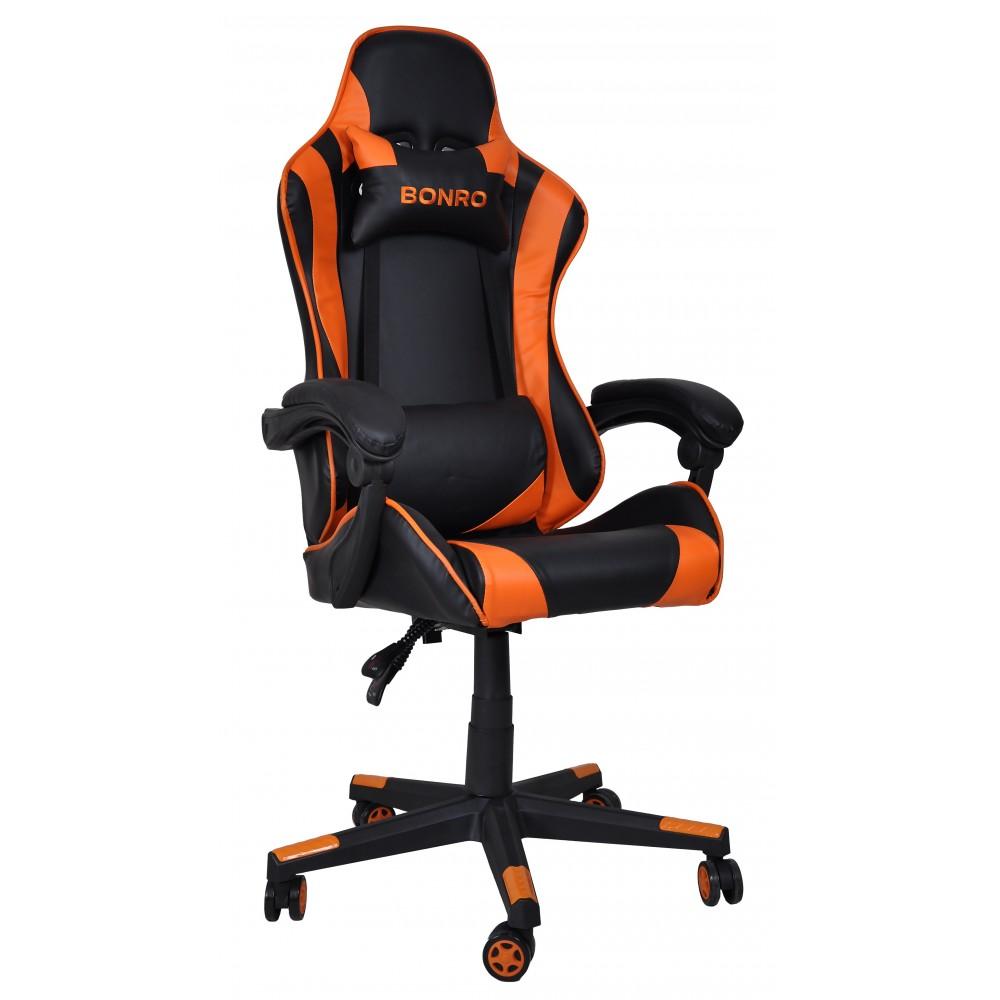 Крісло геймерське Bonro B-2013-1 оранжеве
