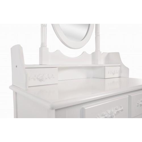 Туалетний столик Bonro- В-011 (червона табуретка)