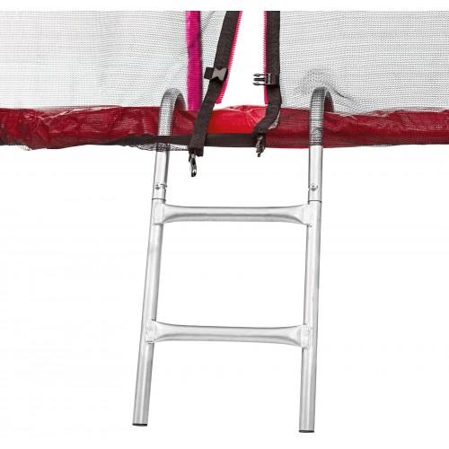 Батут Atleto 312 см з подвійними ногами червоний