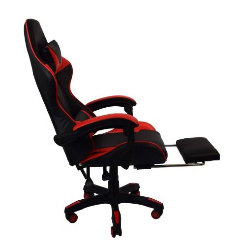 Крісло геймерське Bonro B-810 червоне з підставкою для ніг