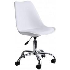 Крісло Bonro B- 487 на колесах біле