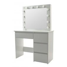 Туалетный столик с подсветкой Bonro- B071 белый