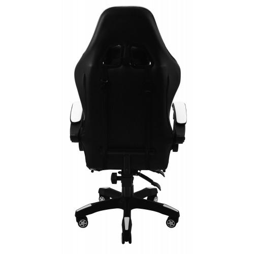 Крісло геймерське Bonro B-810 біле з підставкою для ніг