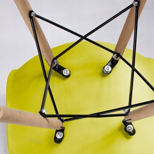 Крісло Bonro В-173 FULL KD жовте